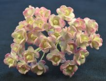 1.3cm ROSY PINK DOUBLE-LAYERED Daisy Mulberry Paper Flowers